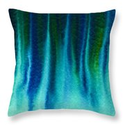 Arctic Spires Of Ice Throw Pillow