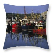 Ardglass, Co Down, Ireland Fishing Throw Pillow