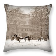 Are You Joining Us... Throw Pillow