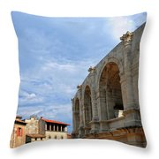 Arena In Arle Provence France Throw Pillow