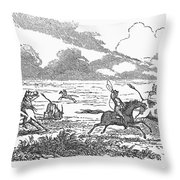 Argentina: Gauchos, 1853 Throw Pillow