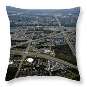 Ariel View Of Orlando Florida Throw Pillow