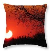 Arizona Eclipse At Sunset Throw Pillow