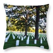 Arlington Cemetery Graves Throw Pillow