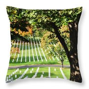 Arlington National Cemetery In The Fall  Throw Pillow