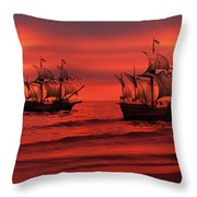 Armada Throw Pillow by Lourry Legarde