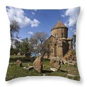 Armenian Church On Adkamar Island Throw Pillow