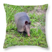 Armored Armadillo 01 Throw Pillow