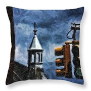 Armory And The Lights Throw Pillow