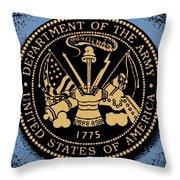 Army Medallion Throw Pillow