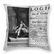 Arnauld & Nicole: Logic Throw Pillow