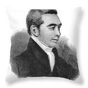 Arnold Buffum (1782-1859) Throw Pillow