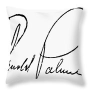 Arnold Palmer (1929-  ) Throw Pillow