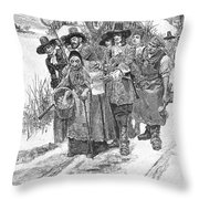Arresting A Witch, 1692 Throw Pillow by Granger