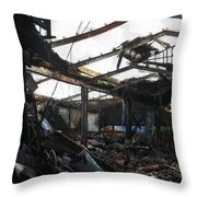 Arson Is Never Very Pretty Throw Pillow