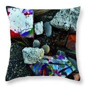 Art Amongst The Rubble Throw Pillow