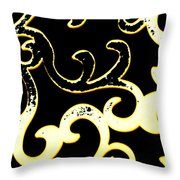Art Deco Branchlets Throw Pillow