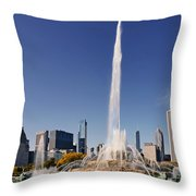Art Deco Buckingham Fountain Chicago Throw Pillow