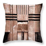 Art Deco In Sepia Throw Pillow