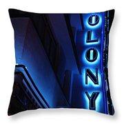 Colony Hotel Art Deco District Miami 2 Throw Pillow