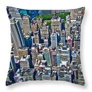 Art Deco New York City Throw Pillow