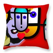 Art Lover Revisited Throw Pillow
