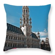 Art Reflecting Art In Brussels Throw Pillow