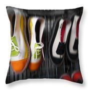 Art Shoes Throw Pillow