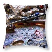 Art Studio Throw Pillow