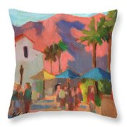 Art Under The Umbrellas Throw Pillow