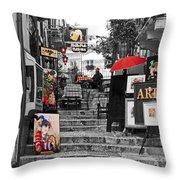 Artful Bistro Throw Pillow