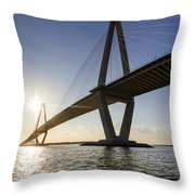 Arthur Ravenel Jr Bridge Charleston South Carolina Throw Pillow