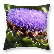 Artichoke Flower  Throw Pillow