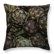 Artichokes At A Market In Provence Throw Pillow