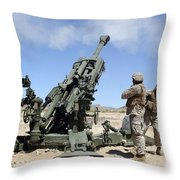 Artillerymen Fire-off A Round Throw Pillow