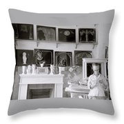 The Sculptor  Throw Pillow