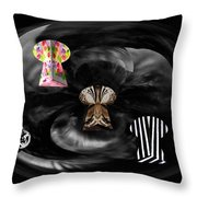 Artist Color Scheme Lockup Throw Pillow
