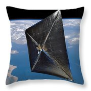 Artist Concept Of Nanosail-d In Space Throw Pillow
