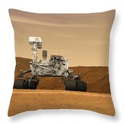 Artist Concept Of Nasas Mars Science Throw Pillow