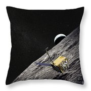 Artist Concept Of The Lunar Throw Pillow