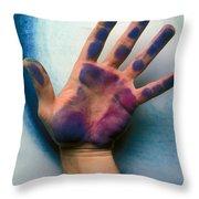 Artist Hand Throw Pillow by Garry Gay