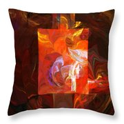 Artist World View Throw Pillow