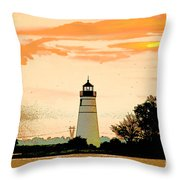 Artistic Madisonville Lighthouse Throw Pillow