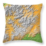 Artistic Map Of Southern Appalachia Throw Pillow