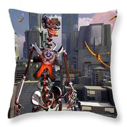 Artists Concept Of A City Of The Future Throw Pillow