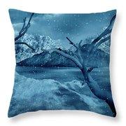 Artists Concept Of A Dangerous Snow Throw Pillow by Mark Stevenson