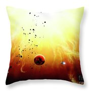 Artists Concept Of A Manned Expedition Throw Pillow