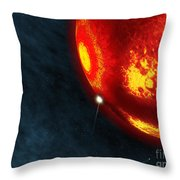 Artists Concept Of An Early Earth Throw Pillow by Walter Myers