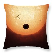Artists Concept Of An Earth-sized Throw Pillow