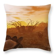 Artists Concept Of Animal And Plant Throw Pillow by Walter Myers